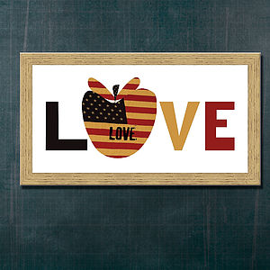 Love New York Apple Print - canvas prints & art
