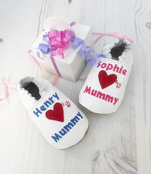 Personalised 'Baby Loves …' Shoes