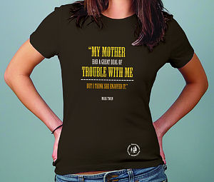 Women's Twain Slogan T Shirt - women's fashion