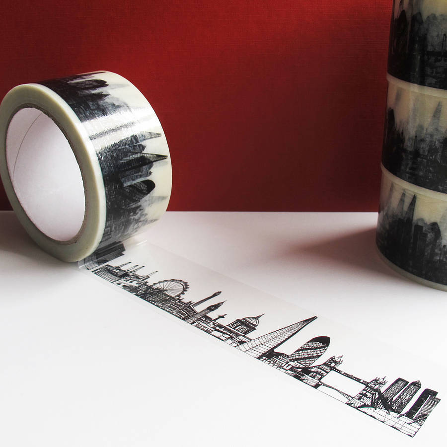 London skyline decorative tape by cecily vessey for Tape works decorative tape