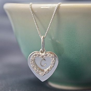 Silver Necklace With Two Heart Charms