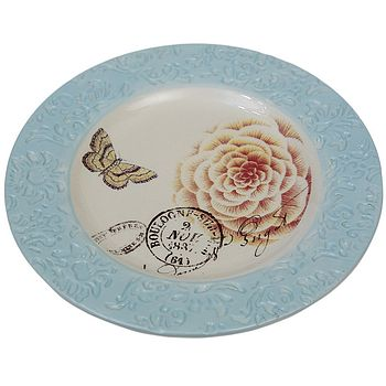 Blue Botannical Plate