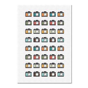 Camera Print Tea Towel