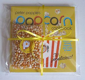 'Peter Popple's Popcorn' Cookbook Gift Set - cookbooks & stands