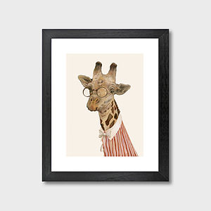 Giraffe Art Print - canvas prints & art