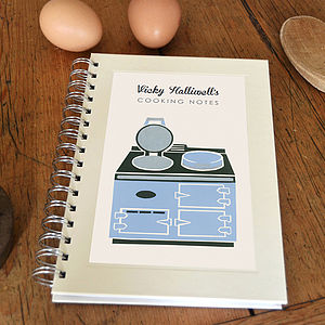 Personalised Range Cooker Notebook - gifts for foodies