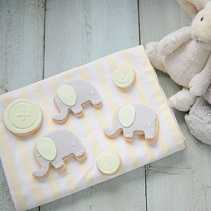 New Baby Or Christening Biscuit Gift Box - baby shower gifts