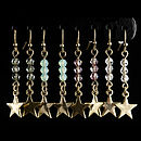 Swarovski Crystal Bead And Star Drop Earrings
