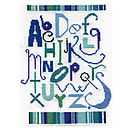 Baby 'ABC' Name Plate Cross Stitch Kit in Blue