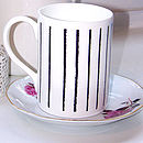 Lily Black Bone China Mug