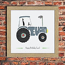 Personalised Tractor Picture