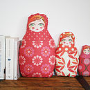 Russian Doll Cushion Family