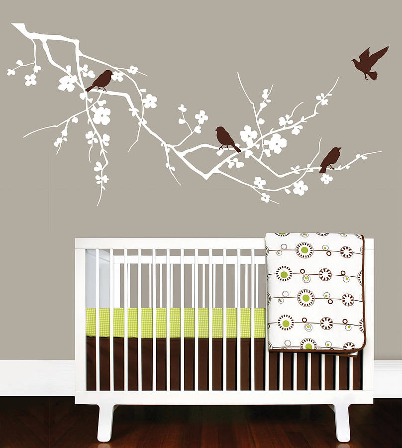 Birds On Branch Wall Stickers By Parkins Interiors - Wall decals birds