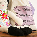 Handmade Doll With Personalised Bag
