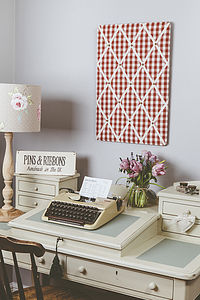 Gingham Memo And Pin Board - art & pictures