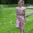 Girl's Floral Playsuit
