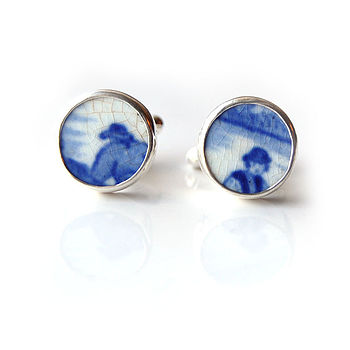 People Pottery Shard Cufflinks