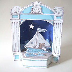 Paper Theatre With Sailing Hare