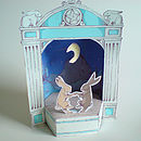 Paper Theatre With Moon Dancing Hares