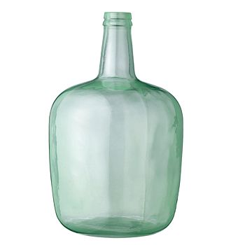 Aqua blue recycled glass vase