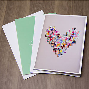 Paper Heart Card - mother's day cards