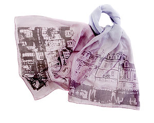 The Streets Of Paris Silk Scarf - hats, scarves & gloves