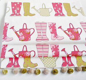 Watering Cans & Wellies Blackout Roman Blind - curtains & blinds