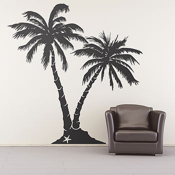 Palm Tree Beach Wall Sticker