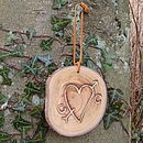 Engraved Heart Tree Slice