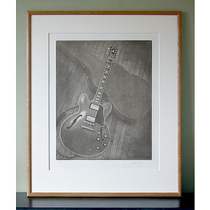 Limited Edition Guitar Print - monochrome