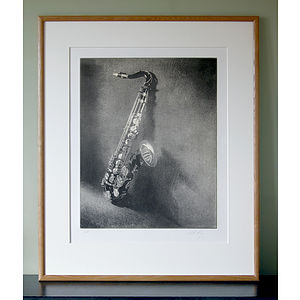 Limited Edition Saxophone Print - music