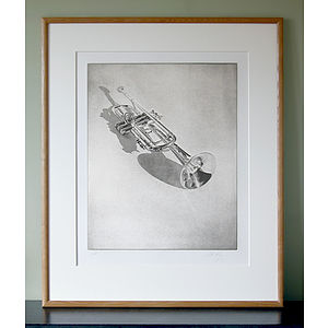 Limited Edition Trumpet Print - home accessories