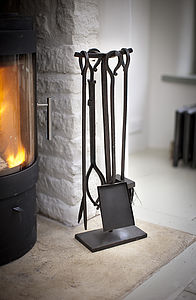 Set Of Four Fireside Tools - fireplace accessories