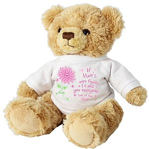 Personalised Mother's Day Flowers Teddy Bear - toys & games