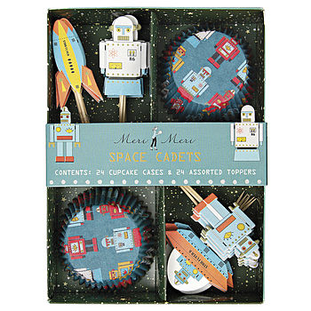 3D Robot Cupcake Kit With Toppers