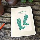 Personalised Wellington Boots Notebook