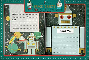 3D Robot Invitation & Card Set