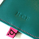 Monogram on Turquoise