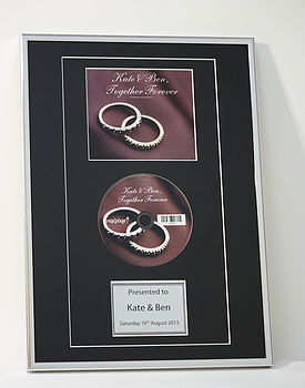 Personalised Framed Disc