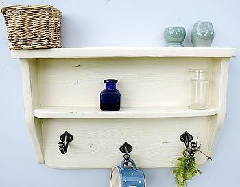 Three Peg Kitchen, Vintage Bathroom Shelf