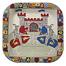 Set Of 12 Knights Party Plates