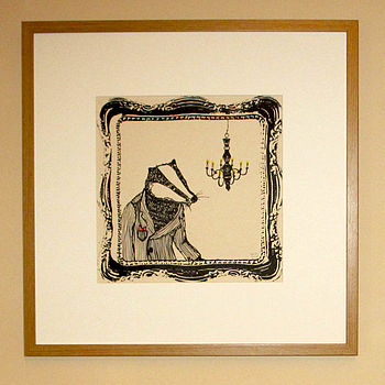 'Bob The Badger' Screen Print