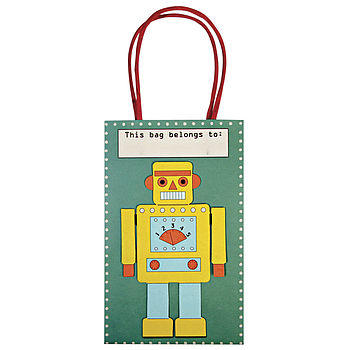 Pack Of Robot Party Bags