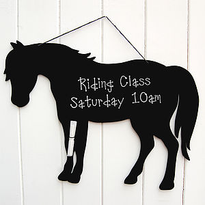 Horse Chalkboard - kitchen accessories