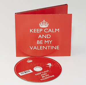 Personalised Keep Calm And Be My Valentine CD - valentine's cards