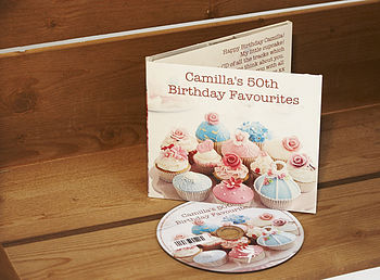 Personalised Birthday Cupcakes CD