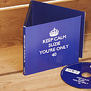 Personalised Birthday 'Keep Calm' CD