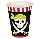 Set Of 12 Pirate Party Paper Cups