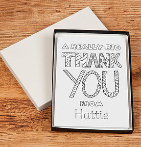 Personalised Colour In Cards - stationery & creative activities