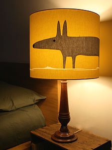 Mr Fox Lampshade In Mustard - lighting